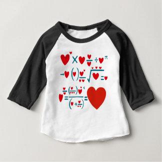 Camiseta Para Bebê Fórmula do amor
