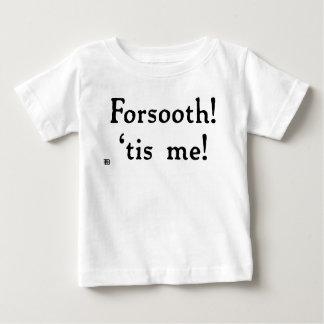 Camiseta Para Bebê Forsooth! T do bebê (luz)