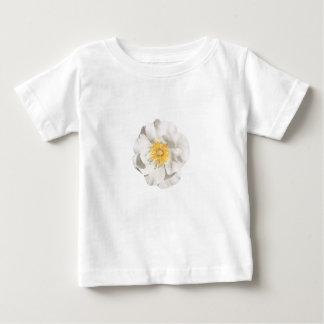 Camiseta Para Bebê Foto da flor branca