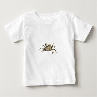 Camiseta Para Bebê Foto escura do caranguejo