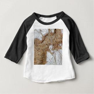 Camiseta Para Bebê Foto macro da superfície do pão de mistura