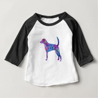 Camiseta Para Bebê Foxhound americano, aguarela do foxhound americano