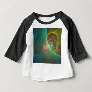 Camiseta Para Bebê Fractal abstrato colorido