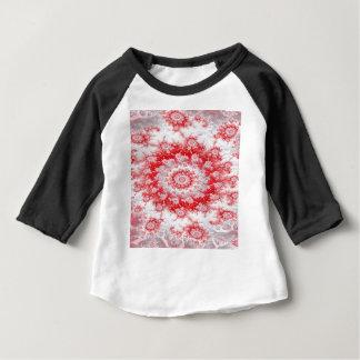 Camiseta Para Bebê Fractal do redemoinho da flor do bastão de doces