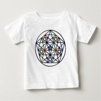 Camiseta Para Bebê Fractal sagrado da geometria da abundância da vida