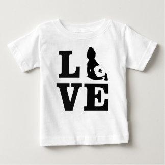 Camiseta Para Bebê Fralda Luv T de pano