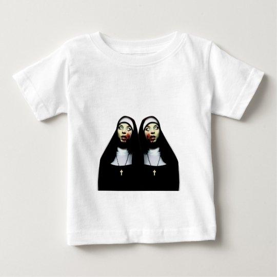 Camiseta Para Bebê Freiras do horror