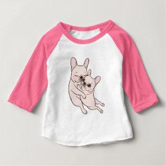 Camiseta Para Bebê Frenchie de creme diz-lheo mãe que a ama
