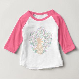 Camiseta Para Bebê Frenchie de creme e a folha do primavera