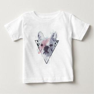 Camiseta Para Bebê Frenchie rebelde rebelde