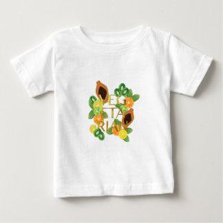 Camiseta Para Bebê Fruta do vegetariano