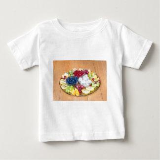 Camiseta Para Bebê Fruta fresca do verão da variedade na escala de