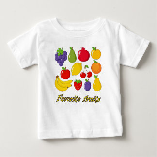 Camiseta Para Bebê Frutas