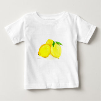 Camiseta Para Bebê Frutas amarelas dos limões