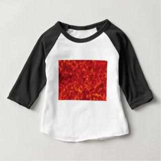 Camiseta Para Bebê fulgor alaranjado da lava