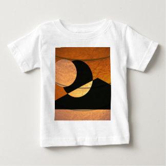 Camiseta Para Bebê Fulgor dos planetas, preto e cobre, design gráfico