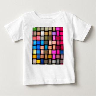 Camiseta Para Bebê Fundo abstrato entrelaçado