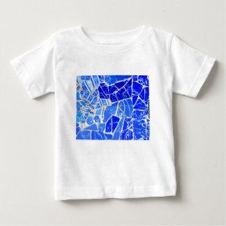 Camiseta Para Bebê Fundo azul abstrato