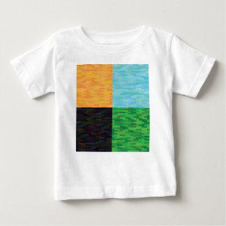 Camiseta Para Bebê fundo colorido