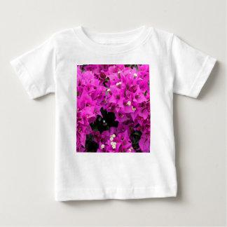 Camiseta Para Bebê Fundo fúcsia roxo do Bougainvillea