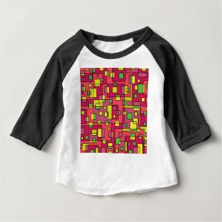 Camiseta Para Bebê Fundo quadrado cor-de-rosa