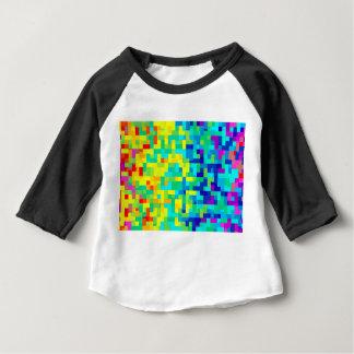Camiseta Para Bebê Fundo sem emenda do teste padrão do pixel como um