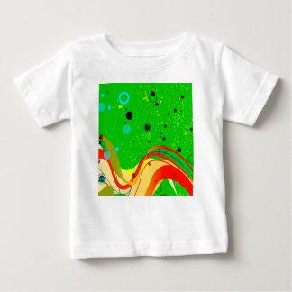 Camiseta Para Bebê Fundo verde do jazz