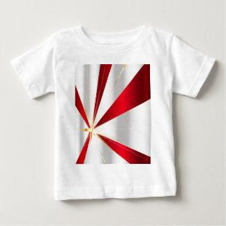 Camiseta Para Bebê Fundo vermelho e de prata