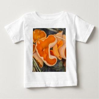 Camiseta Para Bebê Fungo de casca alaranjada, aurantia de Aleuria