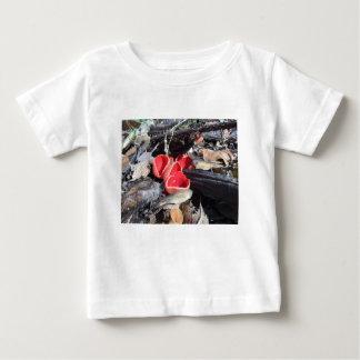 Camiseta Para Bebê Fungo de copo vermelho