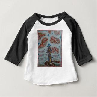 Camiseta Para Bebê Furos azuis