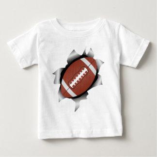 Camiseta Para Bebê futebol através da folha de metal