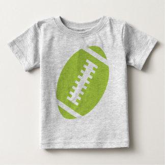 Camiseta Para Bebê Futebol dianteiro do verde limão das cinzas | do