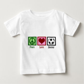 Camiseta Para Bebê Futebol do amor da paz