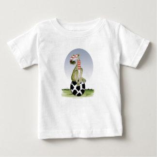 Camiseta Para Bebê futebol dos vermelhos do cão superior