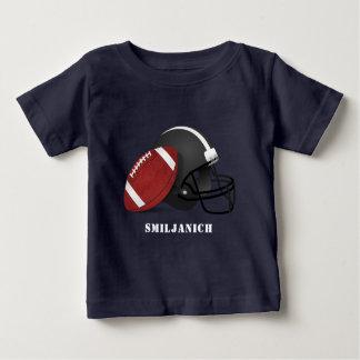 Camiseta Para Bebê Futebol e capacete