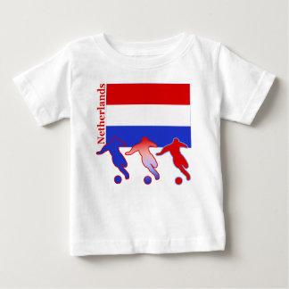 Camiseta Para Bebê Futebol Países Baixos