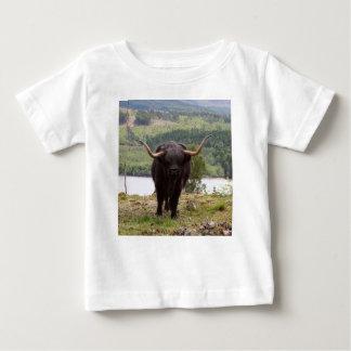 Camiseta Para Bebê Gado preto das montanhas, Scotland