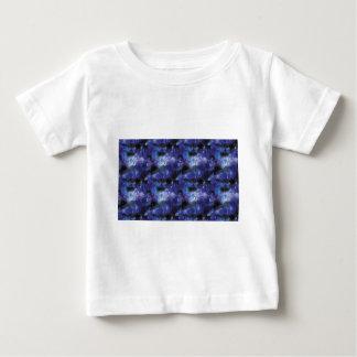 Camiseta Para Bebê galaxy pixel art in blue