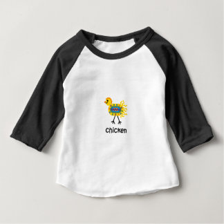 Camiseta Para Bebê Galinha
