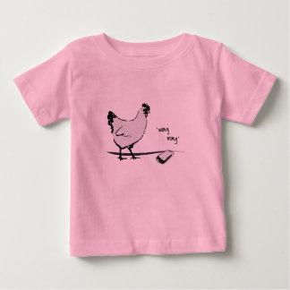 Camiseta Para Bebê Galinha com telemóvel