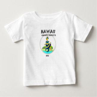 Camiseta Para Bebê Galinha da sereia das pepitas de galinha de Havaí