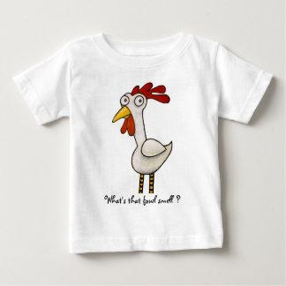 Camiseta Para Bebê Galinha engraçada