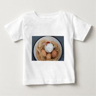 Camiseta Para Bebê Galinha & ovos