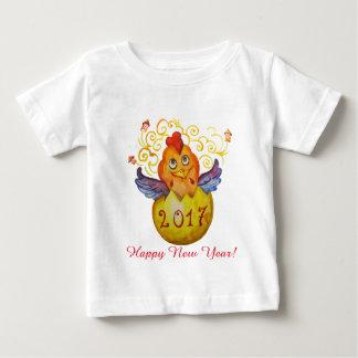 Camiseta Para Bebê Galo 2017 chinês do ano novo