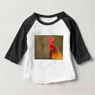 Camiseta Para Bebê Galo com cabeça vermelha do pente
