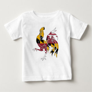 Camiseta Para Bebê Galo de Maryland