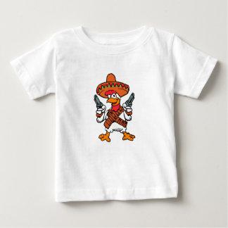 Camiseta Para Bebê Galo mexicano