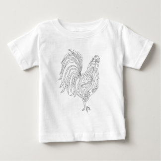 Camiseta Para Bebê Galo vivo do país