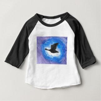 Camiseta Para Bebê Ganso em vôo